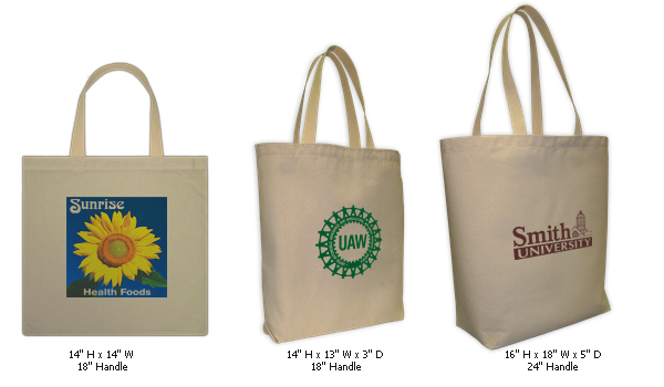Custom Screenprinted or Full-Color Canvas Tote Bags